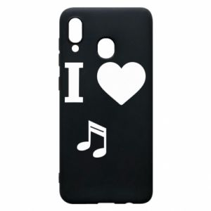 Phone case for Samsung A30 I love music