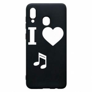 Etui na Samsung A30 I love music