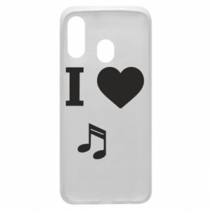 Phone case for Samsung A40 I love music