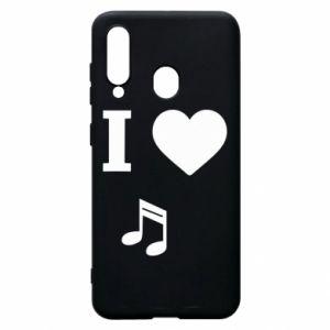Etui na Samsung A60 I love music