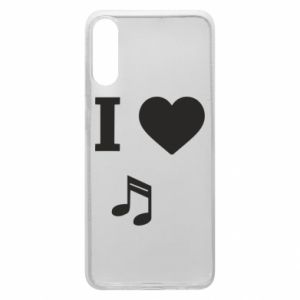 Etui na Samsung A70 I love music