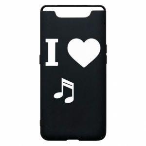 Etui na Samsung A80 I love music