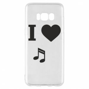 Phone case for Samsung S8 I love music