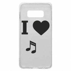 Phone case for Samsung S10e I love music