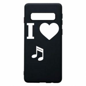 Etui na Samsung S10 I love music