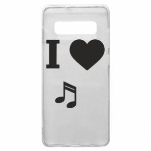 Phone case for Samsung S10+ I love music