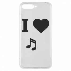 Phone case for Huawei Y6 2018 I love music