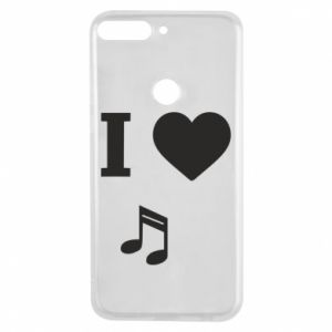 Huawei Y7 Prime 2018 Case I love music