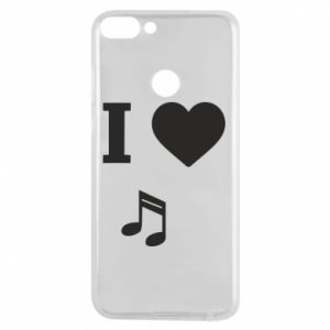 Phone case for Huawei P Smart I love music