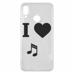 Phone case for Huawei P Smart Plus I love music