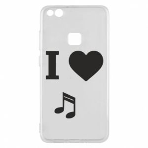 Phone case for Huawei P10 Lite I love music