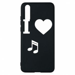 Phone case for Huawei P20 I love music