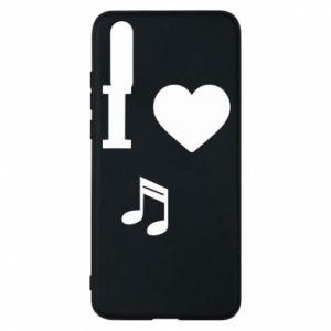 Etui na Huawei P20 I love music