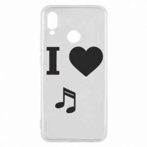Etui na Huawei P20 Lite I love music