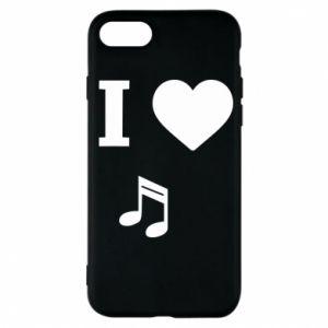 Etui na iPhone 7 I love music