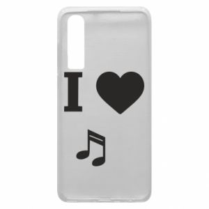 Etui na Huawei P30 I love music