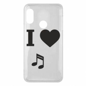 Phone case for Mi A2 Lite I love music