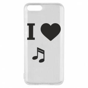 Phone case for Xiaomi Mi6 I love music