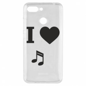 Phone case for Xiaomi Redmi 6 I love music