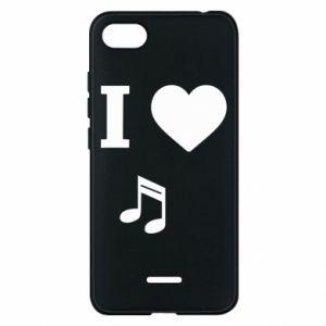 Phone case for Xiaomi Redmi 6A I love music
