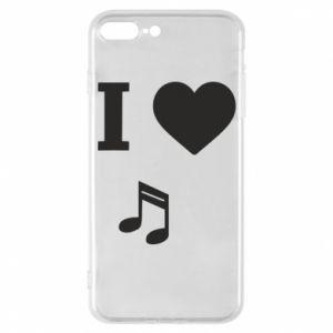 Etui na iPhone 7 Plus I love music