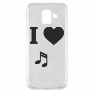 Etui na Samsung A6 2018 I love music