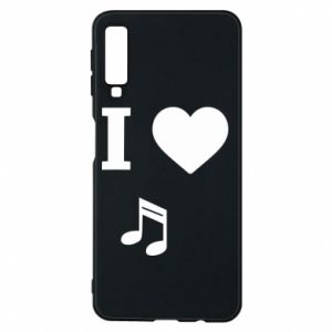 Phone case for Samsung A7 2018 I love music