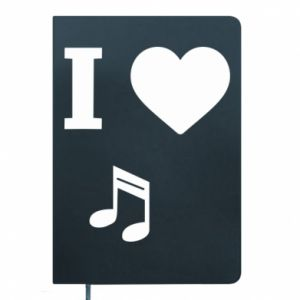 Notepad I love music