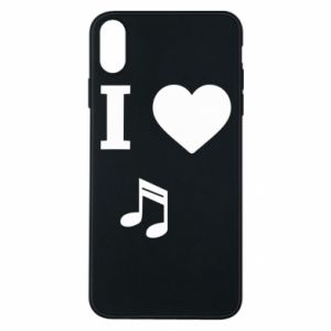 Phone case for iPhone Xs Max I love music