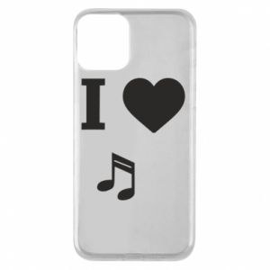 Phone case for iPhone 11 I love music