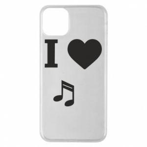 Etui na iPhone 11 Pro Max I love music