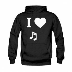 Bluza z kapturem dziecięca I love music