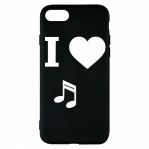 Phone case for iPhone 8 I love music