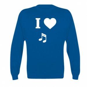 Bluza dziecięca I love music
