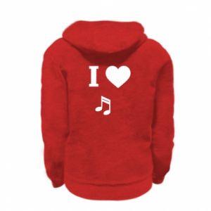 Bluza na zamek dziecięca I love music