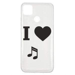 Etui na Xiaomi Redmi 9c I love music