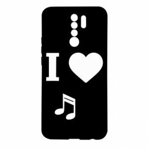 Etui na Xiaomi Redmi 9 I love music