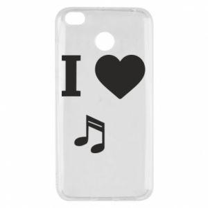 Etui na Xiaomi Redmi 4X I love music
