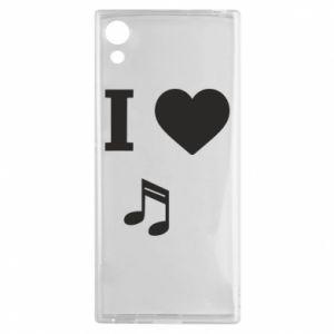 Etui na Sony Xperia XA1 I love music