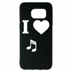 Etui na Samsung S7 EDGE I love music