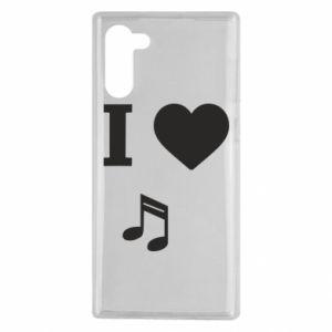 Etui na Samsung Note 10 I love music
