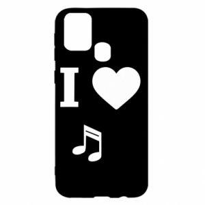 Etui na Samsung M31 I love music