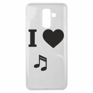 Etui na Samsung J8 2018 I love music