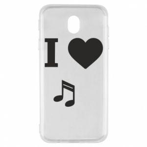 Etui na Samsung J7 2017 I love music