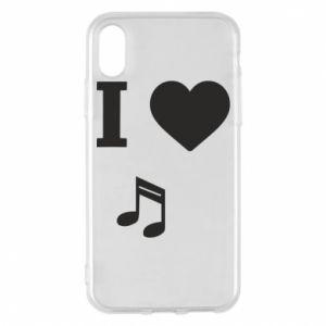 Etui na iPhone X/Xs I love music