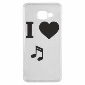Etui na Samsung A3 2016 I love music