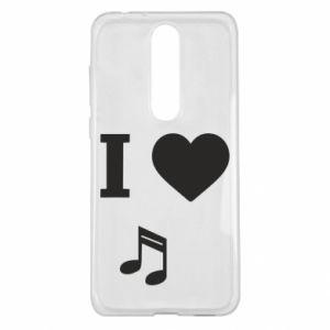 Etui na Nokia 5.1 Plus I love music