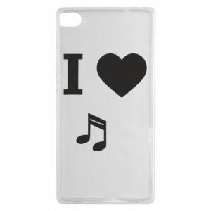 Etui na Huawei P8 I love music