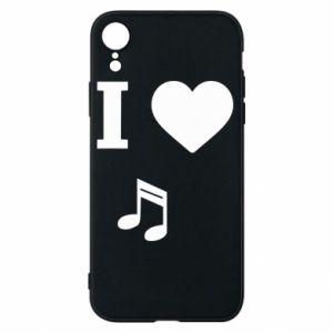 Phone case for iPhone XR I love music