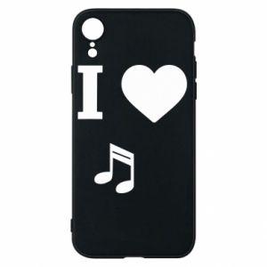 Etui na iPhone XR I love music